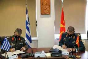 Έπεσαν οι υπογραφές για στρατιωτική συνεργασία μεταξύ Ελλάδας και Βόρειας Μακεδονίας το 2021